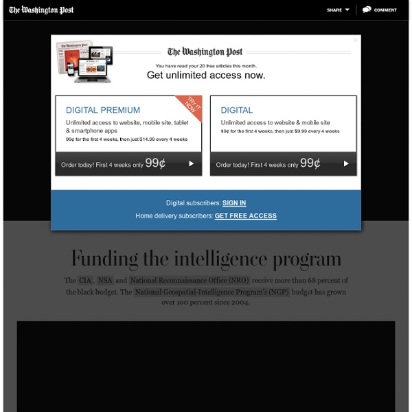 The Black Budget: Top secret U.S. intelligence funding - Interactive Graphic - Washington Post