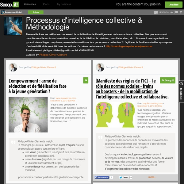 Processus d'intelligence collective & Méthodologie