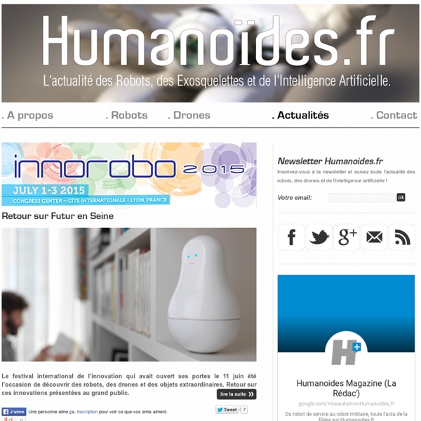 Robots, Drones et Intelligence Artificielle