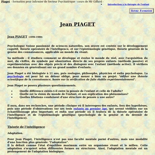Piaget jean, psychologue enfant theorie de l'intelligence, psychologie therapie psychiatrique