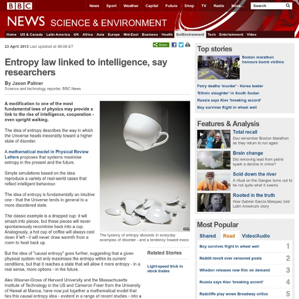Entropy law linked to intelligence, say researchers