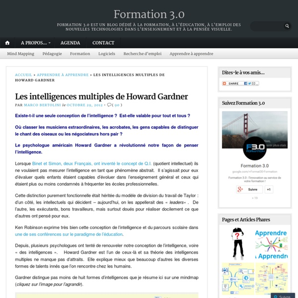 Les intelligences multiples de Howard Gardner