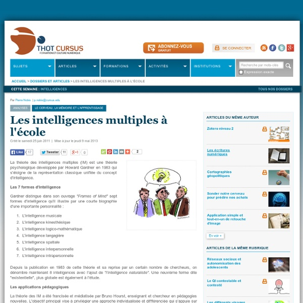 Intelligences multiples à l'école