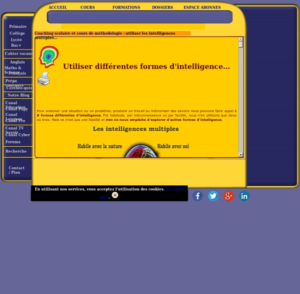 Intelligences multiples : connaître, identifier, utiliser et développer ses performances