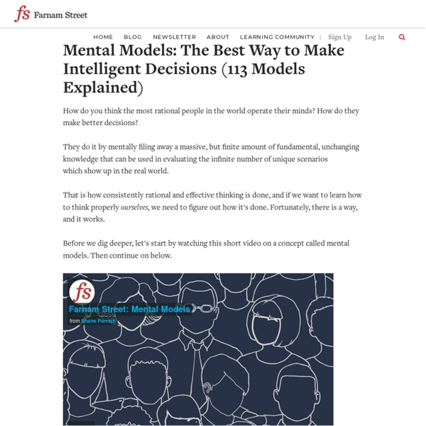 Mental Models: The Best Way to Make Intelligent Decisions