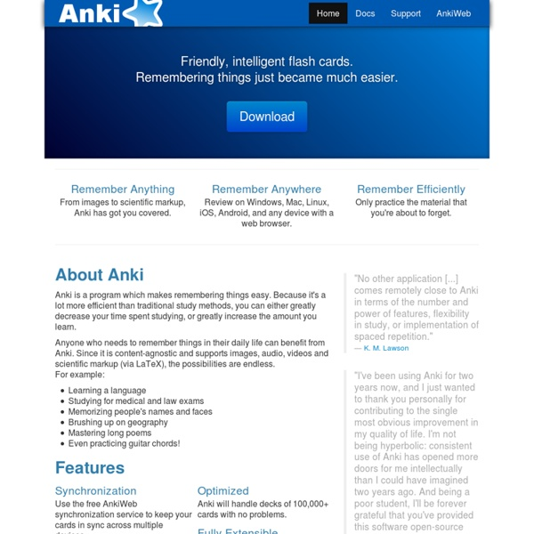 Anki - powerful, intelligent flashcards