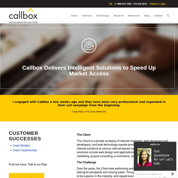 Callbox Delivers Intelligent Solutions to Speed Up Market Access - B2B Lead Generation Company Malaysia