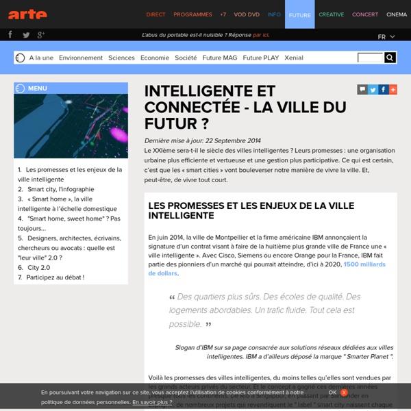 Intelligente et connectée - La ville du futur
