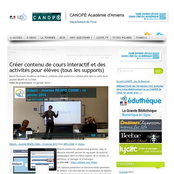 DIDACTI - Créer contenu de cours interactif