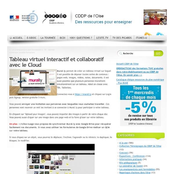 CDDP de l'Oise - Tableau virtuel interactif et collaboratif avec le Cloud