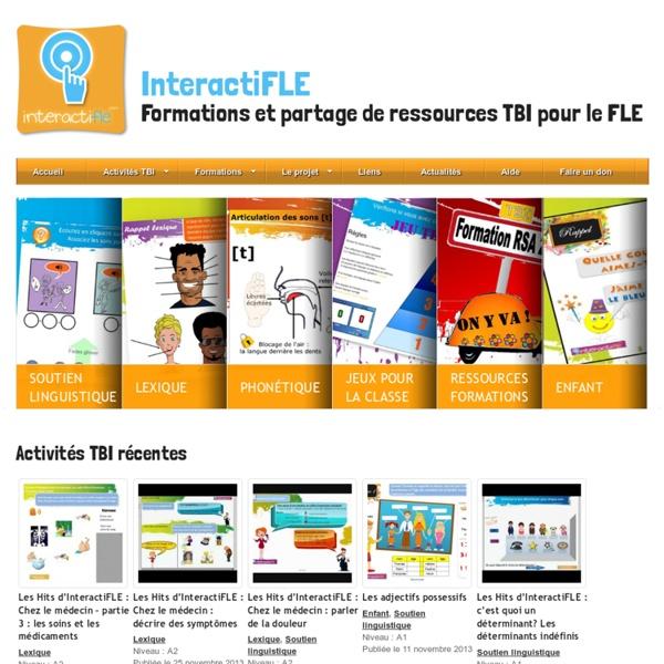 InteractiFLE : activités TBI, formations et partage de ressources FLE