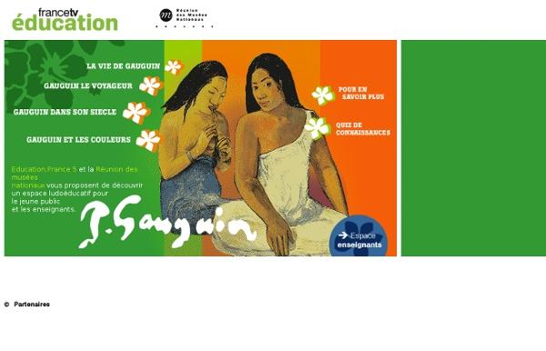 Paul Gauguin : artiste peintre français (jeux interactifs, bibliographie)