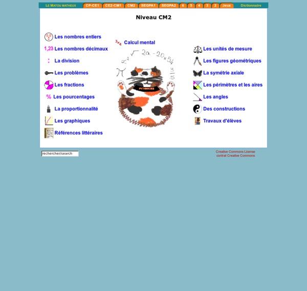 Exercices interactifs en mathématiques CM2