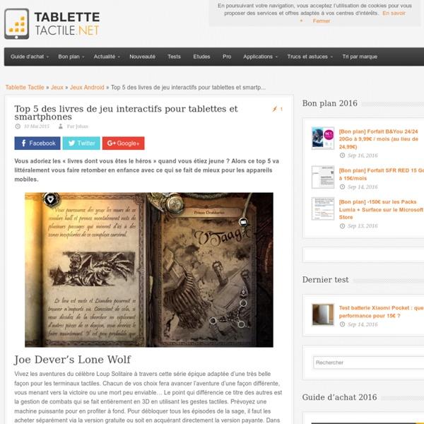 Top 5 des livres de jeu interactifs pour tablettes et smartphones
