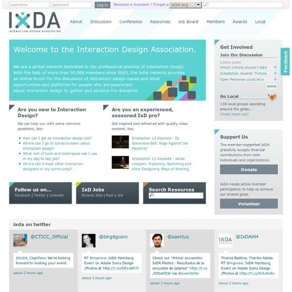 Interaction Design Association - Homepage