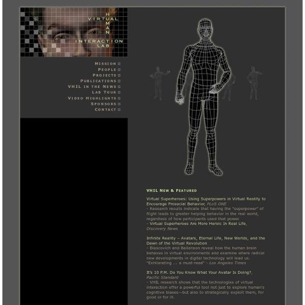 VHIL: Virtual Human Interaction Lab - Stanford University