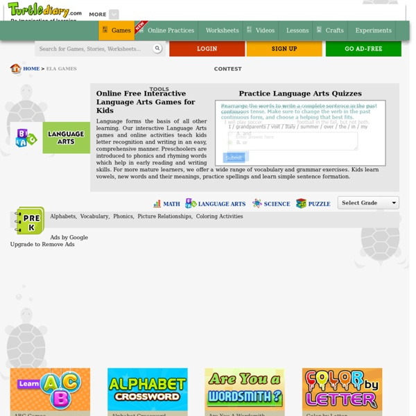 Language Arts Games - Fun & Interactive Language Online Games & Activities For Kids