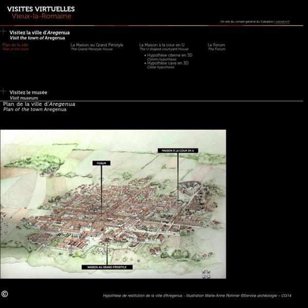 Visite interactive du site archéologique de Vieux-la-Romaine, Calvados - Basse-Normandie