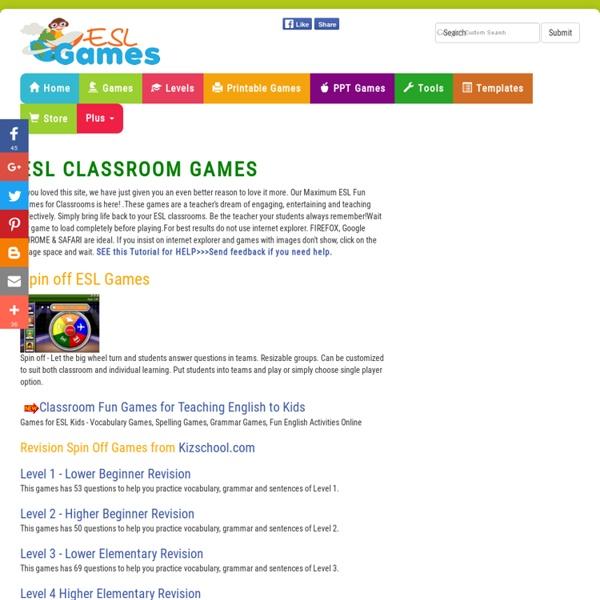 ESL Interactive Fun Games for Classroom Practice