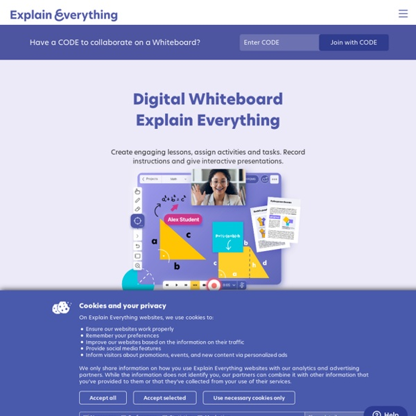 Explain Everything™ Collaborative Interactive Whiteboard App