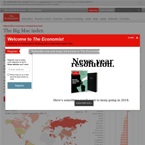 Interactive currency-comparison tool: The Big Mac index