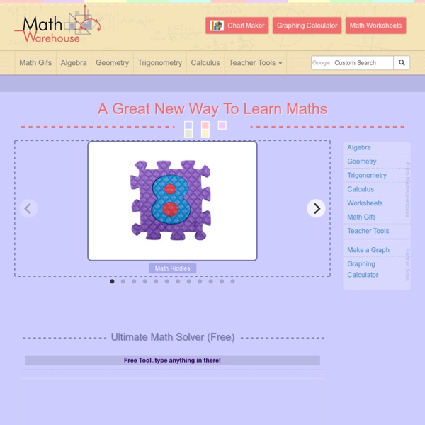 Interactive Math Activities, Demonstrations, Lessons with definitions and examples, worksheets, Interactive Activities and other Resources