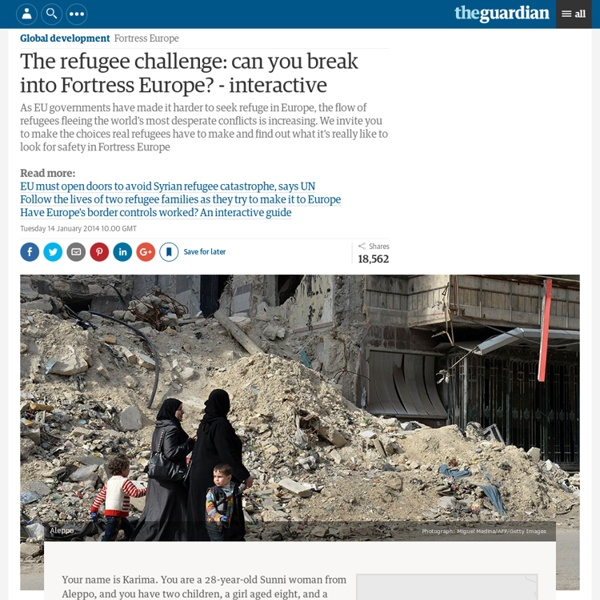 The refugee challenge: can you break into Fortress Europe? - interactive