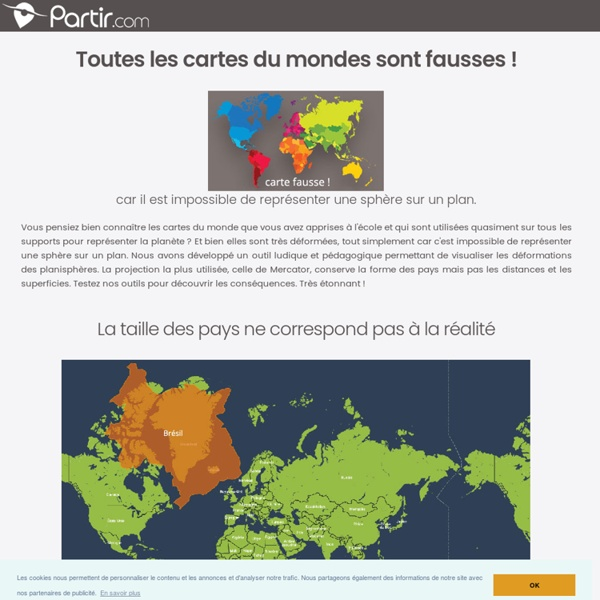 Carte du monde : testez notre carte interactive pour voir les vraies Echelle, Taille, Parcours