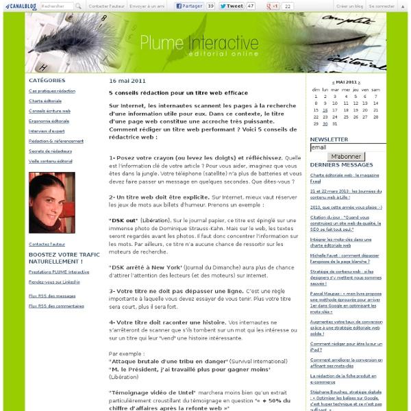 5 conseils rédaction pour un titre web efficace