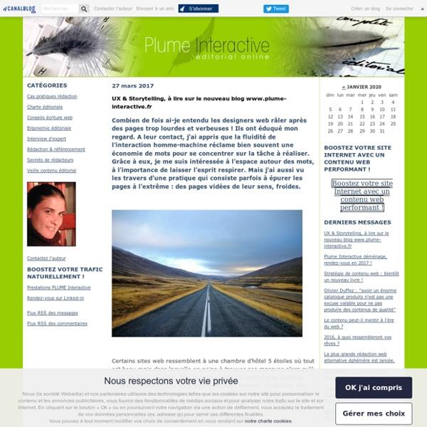 Plume Interactive : écriture web et ergonomie éditoriale par Eve Demange