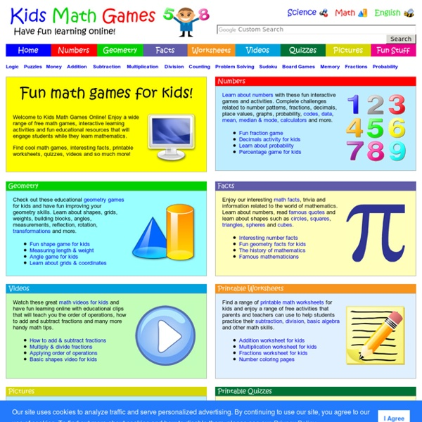 Kids Math Games Online  Free Interactive Learning