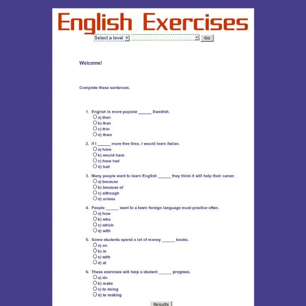 Interactive English Exercises