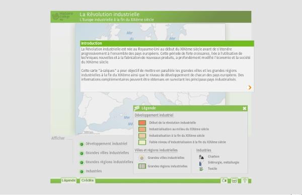 Carte Interactive - La révolution industrielle