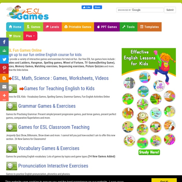 Free ESL Fun Games & Interactive Exercises Online | Pearltrees