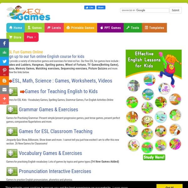 Free ESL Fun Games & Interactive Exercises Online