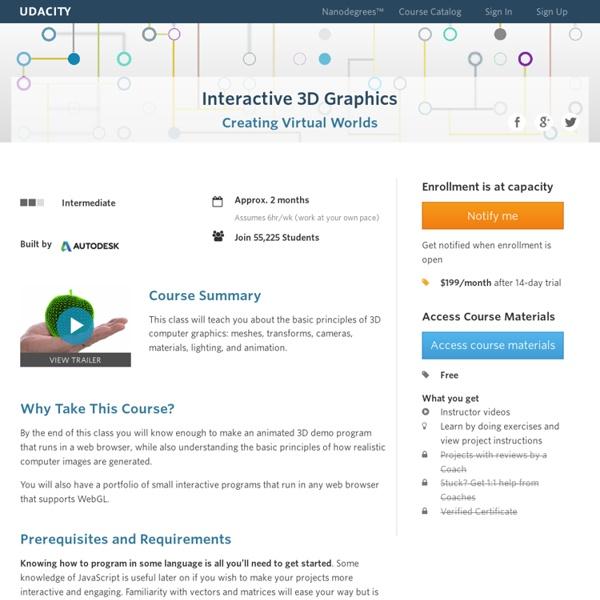 Interactive 3D Graphics Course With Three js & WebGL