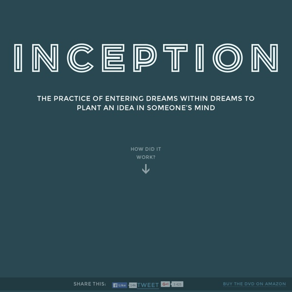 Inception Explained - An interactive animated infographic
