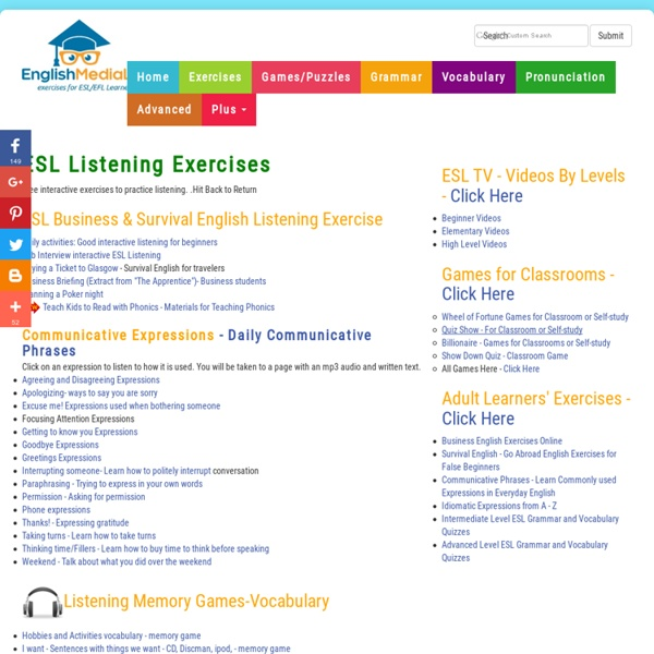 ESL Interactive Listening Exercises