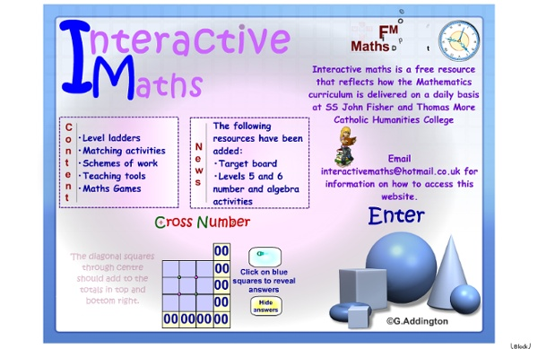 Interactive mathematics resources