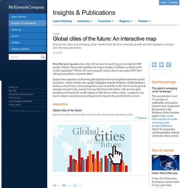 Global cities of the future: An interactive map