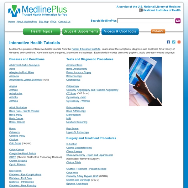 Interactive Health Tutorials: MedlinePlus