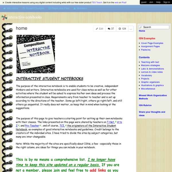 Interactive-notebooks - home