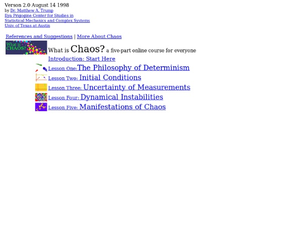 What is Chaos? An Interactive Online Course for Everyone