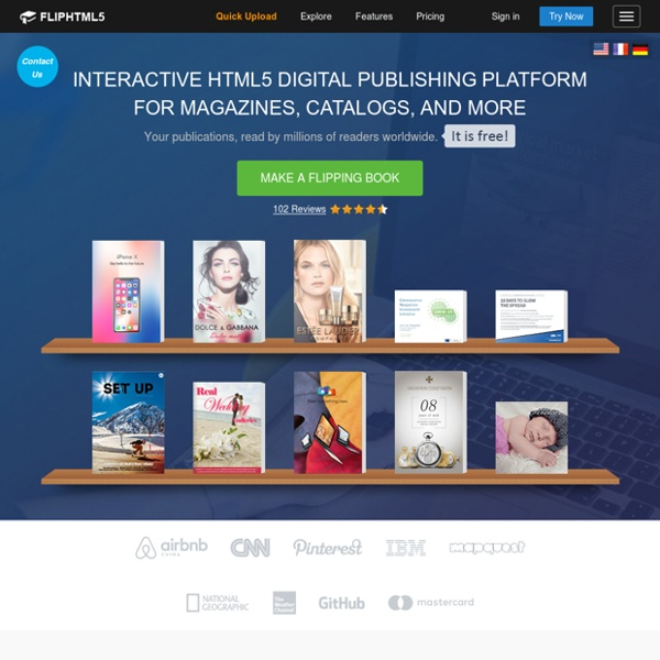 Free jQuery & HTML5 Flip Book Maker For Online 3D Page Turning Book & Magazine Publishing