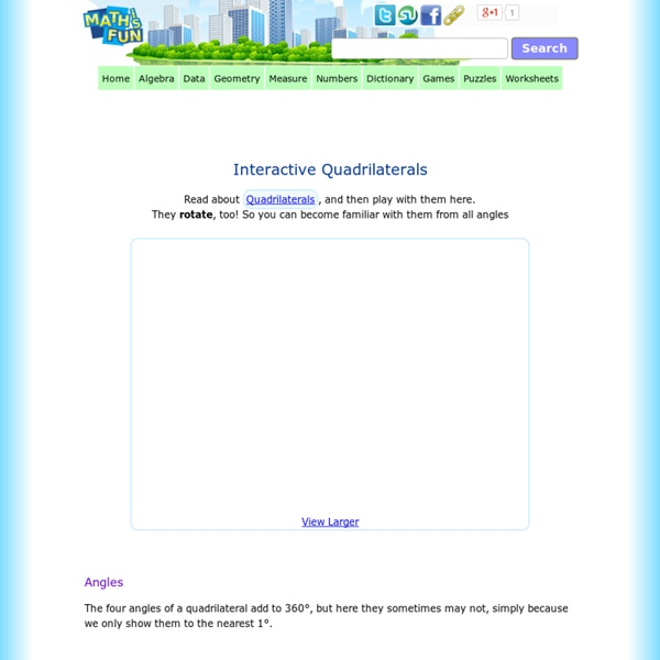 Interactive Quadrilaterals