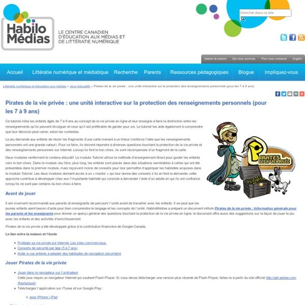 Pirates de la vie privée : jeu sur la protection des renseignements personnels sur Internet