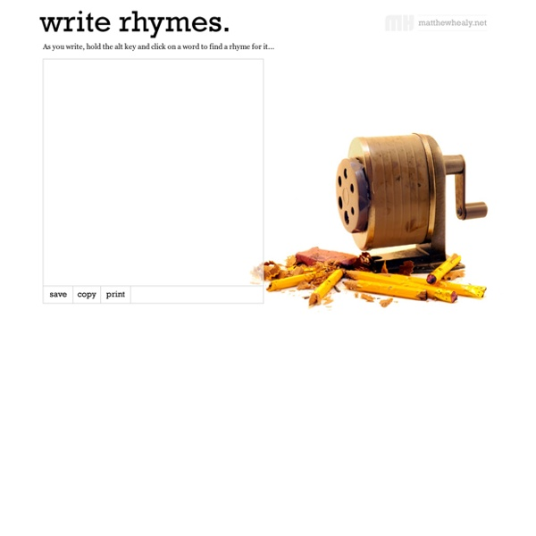 Write rhymes - The interactive rhyming dictionary