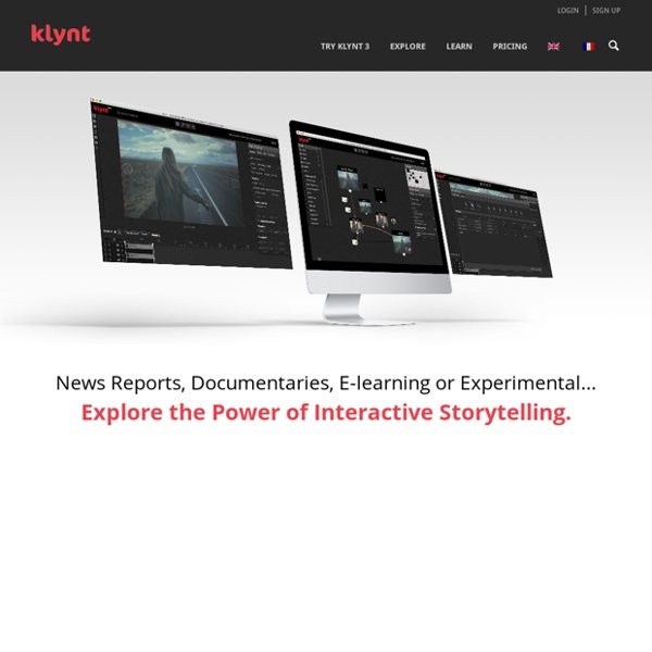 Klynt is an interactive editing & publishing application dedicated to creative storytellers.