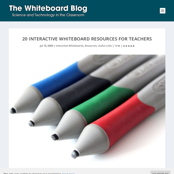 20 Interactive Whiteboard Resources for Teachers