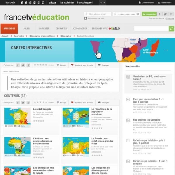 Cartes interactives - Histoire et géographie